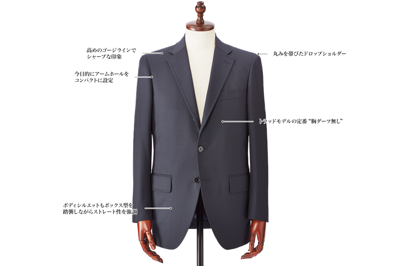 銀座山形屋のスーツスタイル New Trad Model(ニュートラッドモデル)