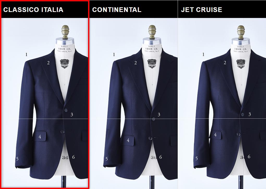 麻布テーラーのスーツスタイルCLASSICO ITLIA MODEL(クラシコイタリアモデル)