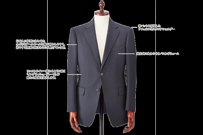 銀座山形屋のスーツスタイル Savile Row Drape Model(サビルロウ・ドレープ)