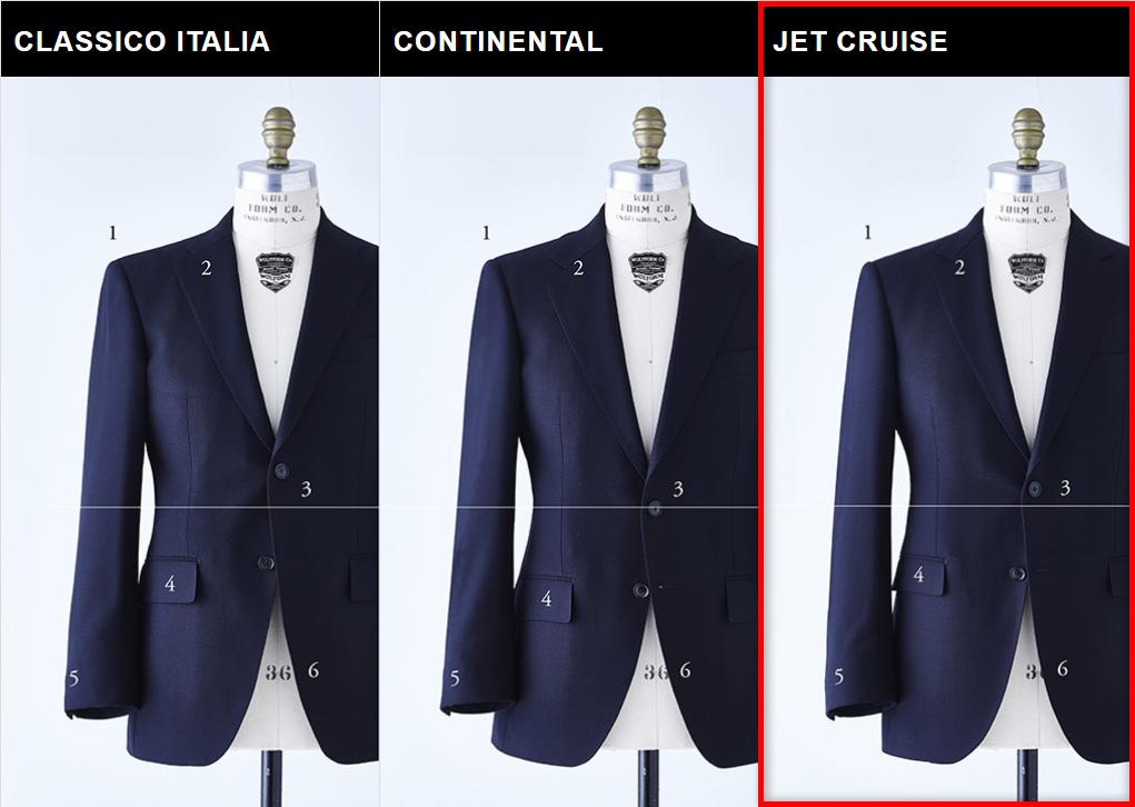 麻布テーラーのスーツスタイルJET CRUISE MODEL(ジェットクルーズモデル)