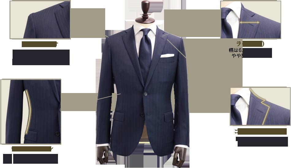 スプレーモのスーツスタイル「フィットライン」