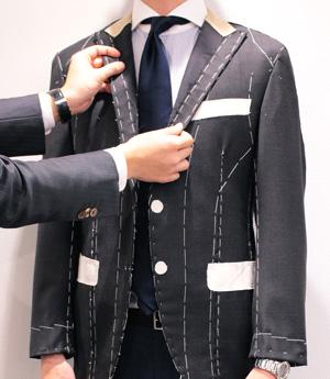 スプレーモの仮縫い