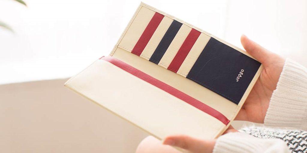 JOGGOレディース財布人気カラー「アイボリーホワイト」