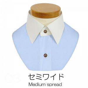 軽井沢シャツ おこのみオーダーの襟 セミワイド