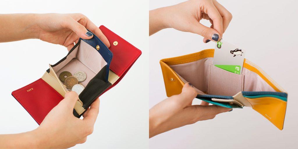 JOGGO レディース三つ折り財布 コンパクトサイズ