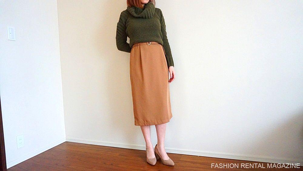ニット×スカート
