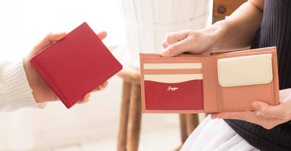 JOGGO レディース 二つ折り財布(小銭入れ付き)