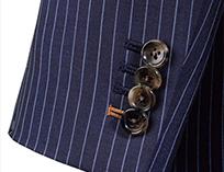 AOKI(青木)のオーダースーツオプション 重ねボタン