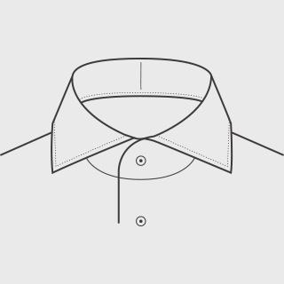 KEIオーダーシャツ 襟の形 ワイド