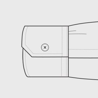 KEIオーダーシャツ 袖の種類 シングル(角型)