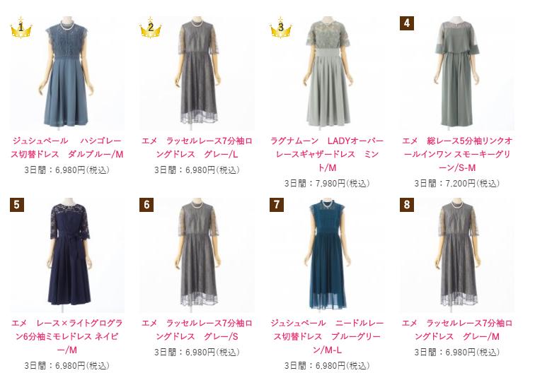 カリル 人気ブランド ドレス