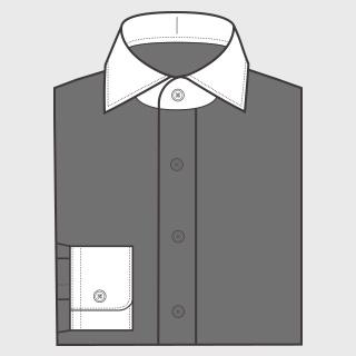KEIオーダーシャツ クレリック 襟と袖