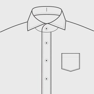 KEIオーダーシャツ ポケット あり