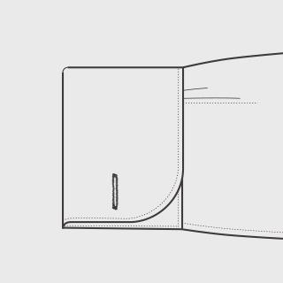KEIオーダーシャツ 袖の種類 ダブルカフス(丸型)