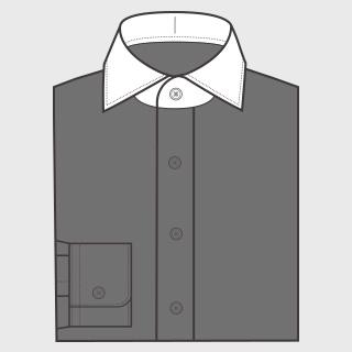 KEIオーダーシャツ クレリック 襟のみ