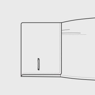 KEIオーダーシャツ 袖の種類 ダブルカフス(角型)