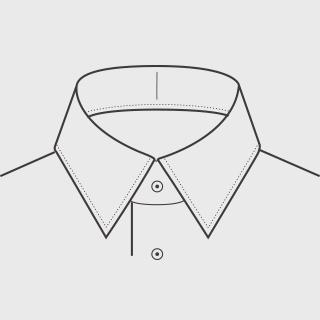 KEIオーダーシャツ 襟の形 レギュラー