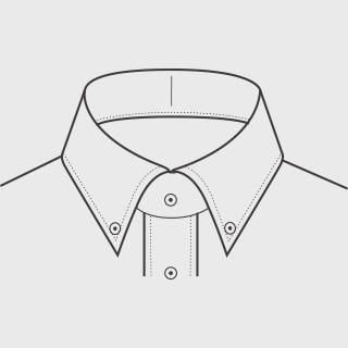 KEIオーダーシャツ 襟の形 ボタンダウン