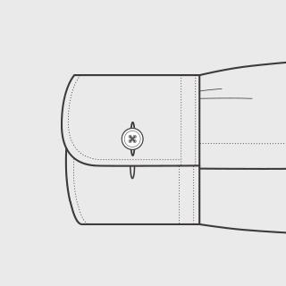 KEIオーダーシャツ 袖の種類 コンバーチブル(丸型)