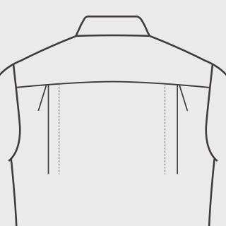 KEIオーダーシャツ プリーツ サイドプリーツ