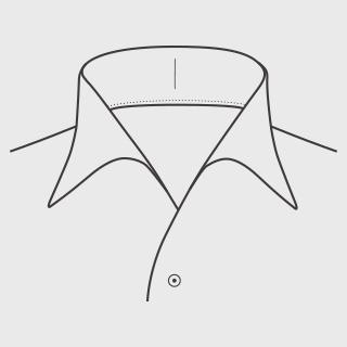 KEIオーダーシャツ 襟の形 イタリアンカラー