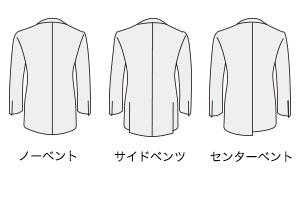 紳士服のコナカ パターンオーダー ベント