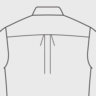 KEIオーダーシャツ プリーツ センタープリーツ