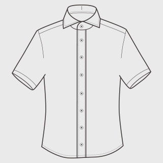 KEIオーダーシャツ 袖 半袖