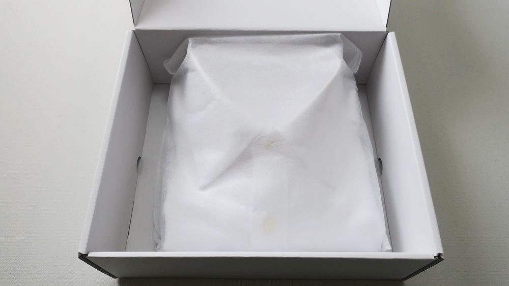 KEI 実際に届いたオーダーシャツ 梱包された状態