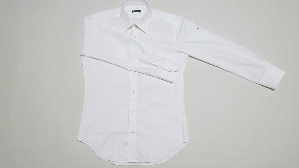 SOLVE(ソルブ) 生地W-6167-2 シャツの全体シルエット