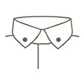 SOLVE(ソルブ) 襟の種類 ボタンダウン(ショート)