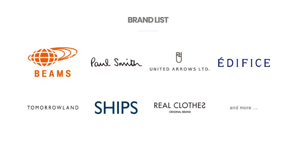 REAL CLOTHES(リアルクローズ) 取り扱いブランド一覧