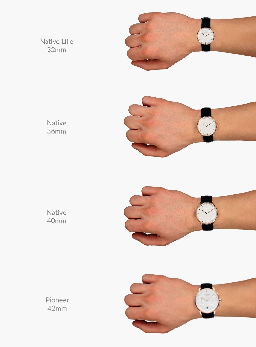 ノードクリーン腕時計 サイズ 別の見え方 Native Pioneer