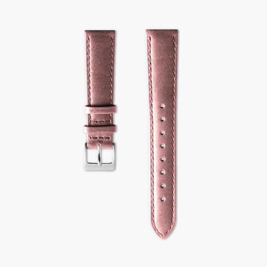 ピンク レザー ウォッチ ストラップ - ゴールド - 36mm Pink_silver