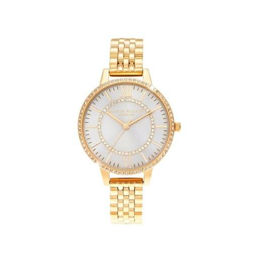 ワンダーランド ブラッシュ サンレイ ダイアル & ゴールド ブレスレット オリビアバートン 腕時計