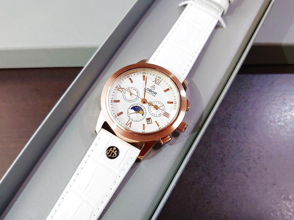 LOBOR(ロバー)腕時計【CELLINI(セリーニ)】ホワイトレザーストラップ42mm