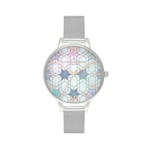 アイスクイーン シルバーメッシュ&ローズゴールド オリビアバートン 腕時計