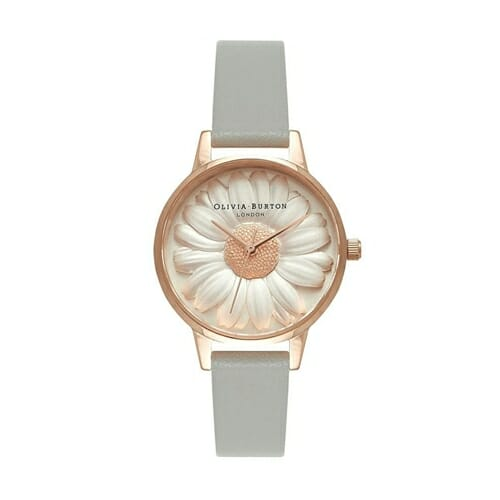 3D デイジー グレイ & ローズゴールド オリビアバートン 腕時計
