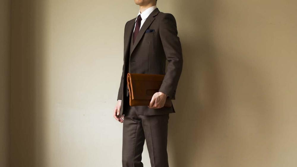Business Leather Factory(ビジネスレザーファクトリー) クラッチバッグ2WAY 男性