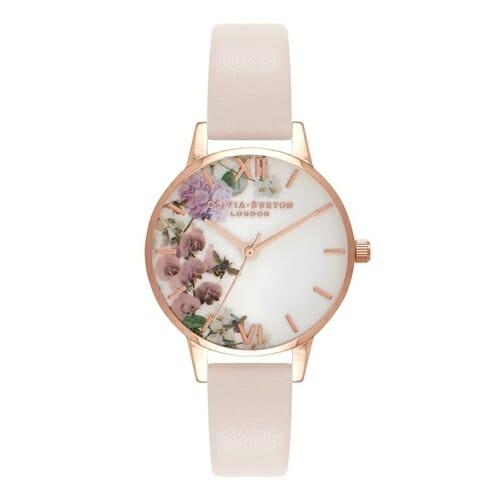 エンチャンテッド ガーデン ミディイングリッシュガーデン ブロッサム ローズゴールド オリビアバートン 腕時計