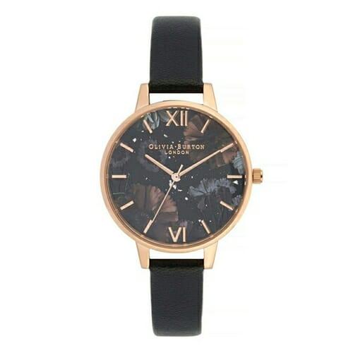 セレスティアル ブラック & ローズゴールド オリビアバートン 腕時計