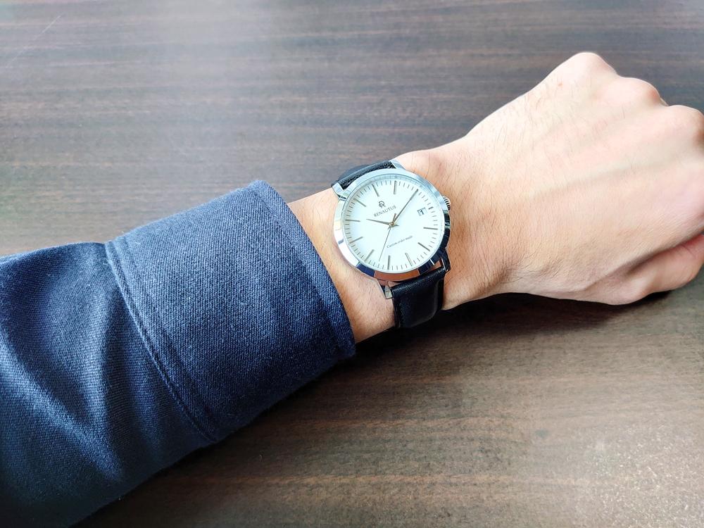 RENAUTUS ルノータス(クラシッククォーツ40mm)腕時計「着用」1