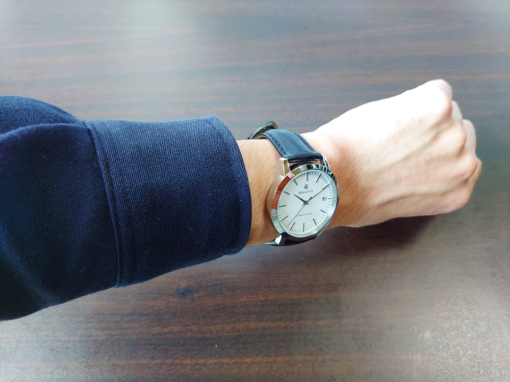 RENAUTUS ルノータス(クラシッククォーツ40mm)腕時計「着用」4