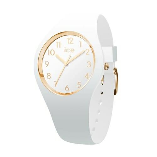 ICE glam - ホワイトゴールド - ナンバーズ - ミディアム アイスウォッチ(ice watch)