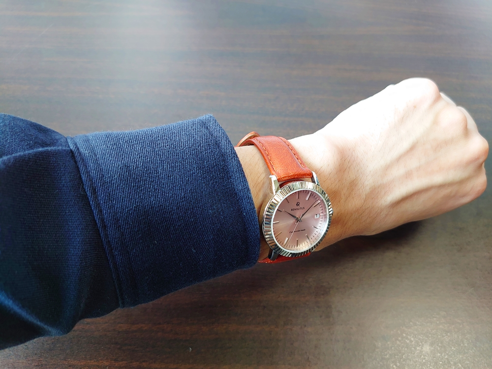 RENAUTUS ルノータス(クラシッククォーツ34mm)腕時計「着用」3