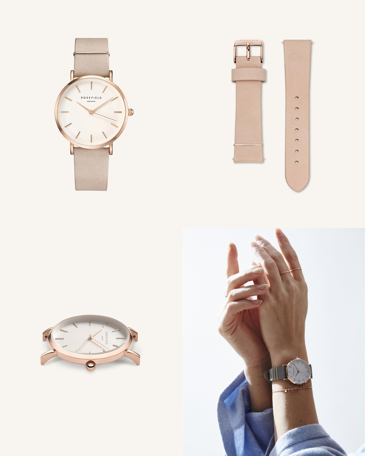 ROSEFIELD ローズフィールド The West Village Soft Pink Rose gold