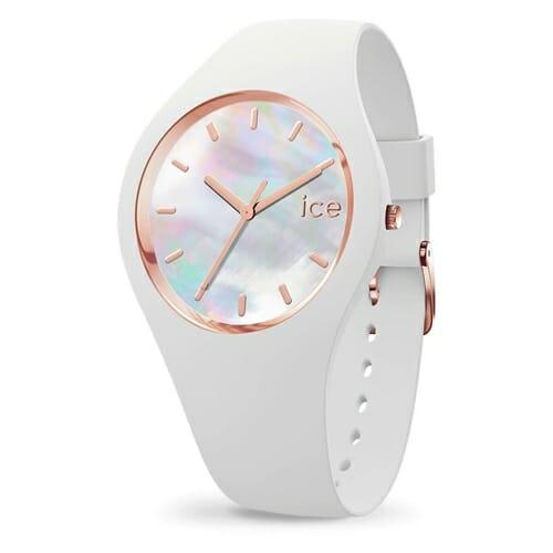 ICE pearl ホワイト ミディアム アイスウォッチ(ice watch)
