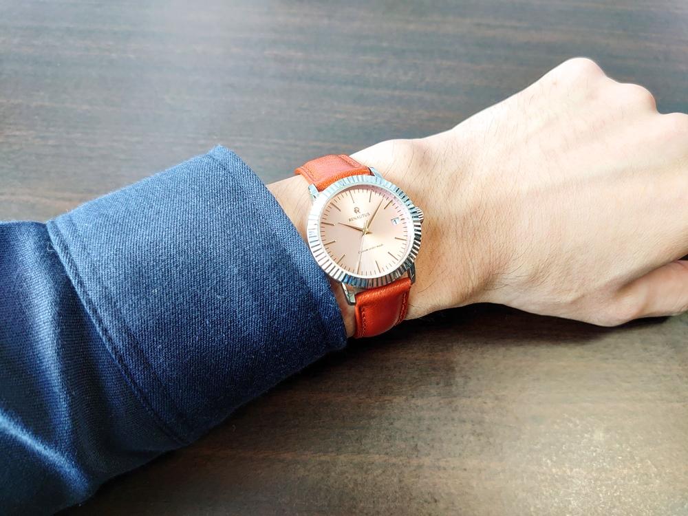 RENAUTUS ルノータス(クラシッククォーツ34mm)腕時計「着用」1