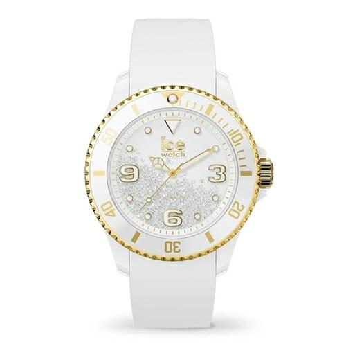 ICE crystal アイス クリスタル ホワイト ゴールド スムーズ (ミディアム) アイスウォッチ(ice watch)