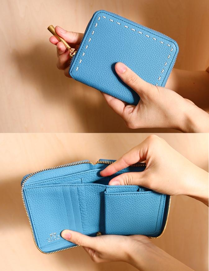 ナガタニ 二つ折り財布 ボニー-vert